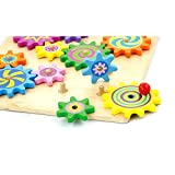 Enlarge toy image: Viga WoodenRotating Gear Wheels - toddler baby activity product