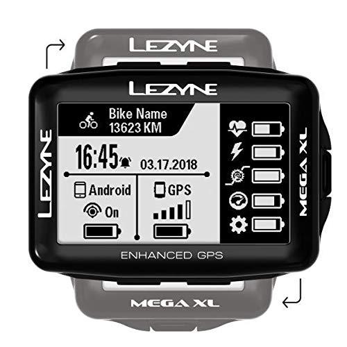 Lezyne Mega XL Bicicleta Negro rastreador