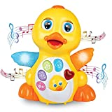Best One Year Old Boys Gifts - BAYBEE Kid's Dancing Duck with Music, Flashing Lights Review