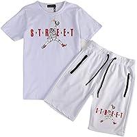 Rowentauk Kit Sportswear da Uomo Camicia Sportiva A Manica Corta Sport Abbigliamento Estivo Sportivo O-Collo Camicia in…