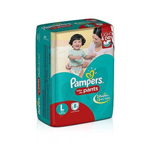 Pampers Large Size Diaper Pants (8 Count)
