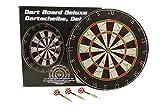 Dartscheibe Ø 45cm beidseitig bespielbar Dartboard inkl. 6 Dartpfeile Bar/Pub/Kneipe