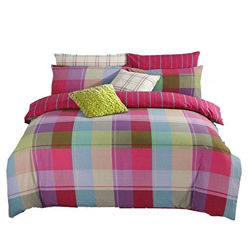 Adam Home Harley Multi Farbe Prüfen Bettdecke Abdeckung Bettwäsche Einstellen Mit Kissenbezüge (Single, Doppelt, King, Super King) -