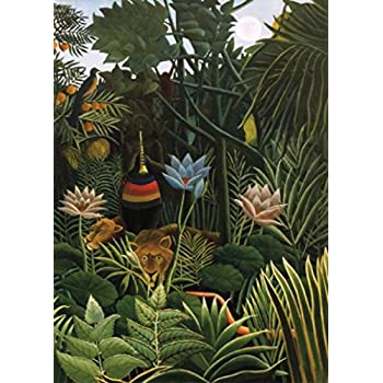 henri rousseau papier peint photo poster le r ve 1910 2 parties 250 x 180 cm. Black Bedroom Furniture Sets. Home Design Ideas