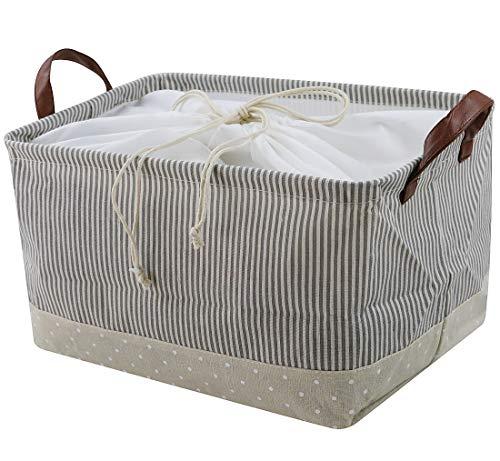 Cestelli a base di eco-friendly cotone. universale domestica dell'organizzatore di immagazzinaggio. funziona come bambino bagagli e toy organizzatore. cesti nursery misura la maggior parte mensole, beige
