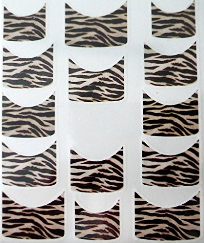 Nail art manucure stickers ongles scrapbooking: 14 décalcomanies motifs tigrés marrons