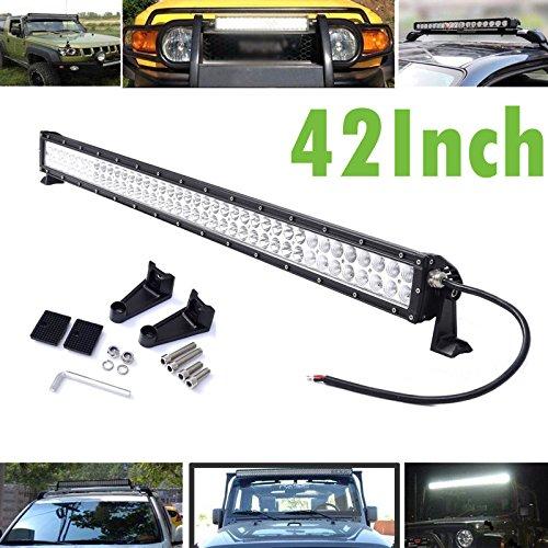 ad 106,7cm 240W 80LED Spot Flood Combo Beam High Power Wasserdicht für Auto LKW Fahrzeug Traktor Trailer Boot (Golf-cart-beleuchtung)
