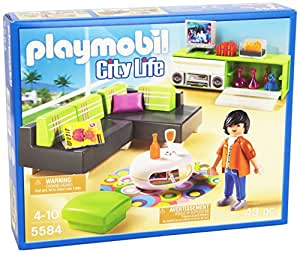 playmobil 5584 jeu de construction salon moderne. Black Bedroom Furniture Sets. Home Design Ideas