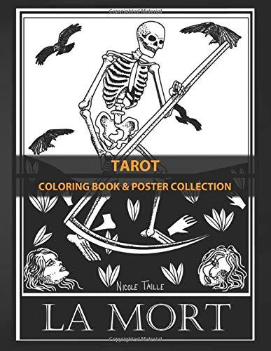 Coloring Book & Poster Collection: Tarot Original Reenterprising Of Tarot Of Marseilles Cards A Fantasy