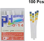 POPETPOP PH Test Strips - PH Testing Strips for Water Pool,PH Paper Universal Application (pH 0-14), 100 Strips 4 Colors