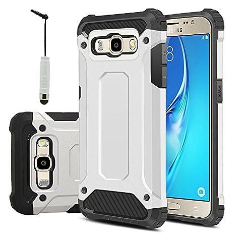 Samsung Galaxy J5 (2016) Étui HCN PHONE® Coque Antichoc Rugged Armor Neo Hybrid carbone pour Samsung Galaxy J5 (2016) + mini stylet -