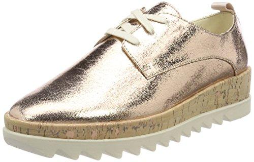 Hilfiger Denim Damen Metallic Platform Lace up Shoe Sneaker, Pink (Rose Gold 638), 38 EU