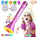 Bluetooth Karaoke Mikrofon, Tencoz Portable Drahtlose Handmikrofon Lautsprecher Player Kabellos Mikrofon mit Lautsprecher,Mikrofon Kinder für KTV Musik singen spielen kompatibel mit Android/IOS, PC