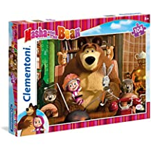 Clementoni - Puzzle Masha and the Bear, 104 piezas (279234)