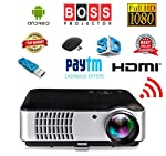 BOSS S8A Android 4.4 Ultra 4K HD 5500 Lumens LED Portable Projector Support USB/WiFi/HDMI/VGA/AV Input/ Audio Input for...
