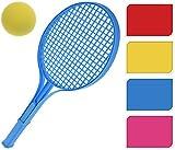 Bahia Vista Soft Tenis Juego Juego de Tenis para Playa, Jardín y Tiempo Libre, Pelota de Tenis con Espuma, Diferentes Colores