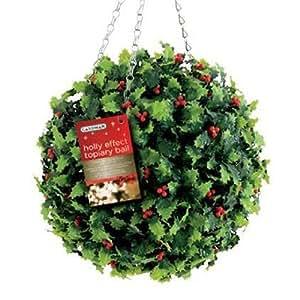 Topiarikugel Buchsbaum, künstlich, 30 cm (Holly Wirkung)