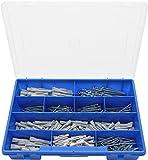 Lausberg Kunststofftechnik 50100003 - Tacos y tornillos universales (caja con diferentes tamaños, 380 unidades)