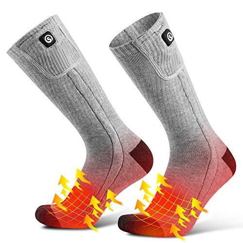 SAVIOR Heat Fire Liner Calze Riscaldate Funzionamento A Batteria Fino A 10 Ore Di Calore Ai Piedi (L, grigio)
