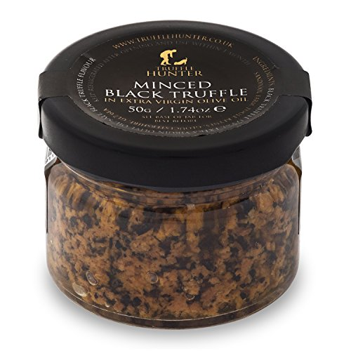 Minced Black Truffle (50g) by TruffleHunter - Preserved in Extra Virgin Olive Oil - Vegan, Vegetarian, Kosher & Gluten Free
