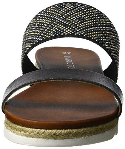 Marco Tozzi Premio 27116, Sandales Bout Ouvert Femme Noir (Black Comb 098)