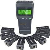 Kabelnetzwerk LAN Koaxial Kabellänge Digital-Tester mit 8 Remote Identifier