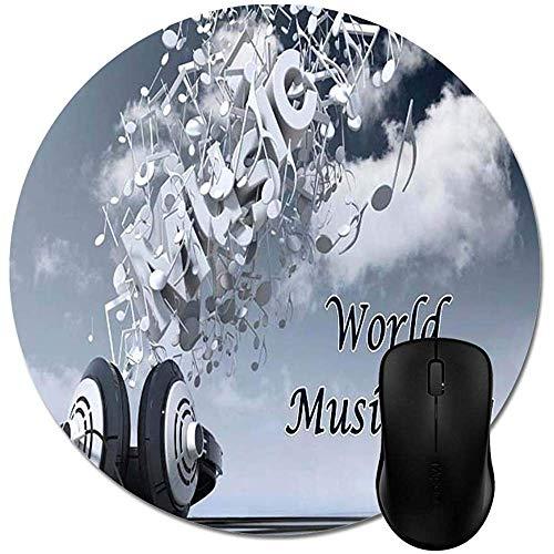 Weltmusik-Tageskopfhörer-Musik-Himmel bewölkt ringsum Mausunterlagen