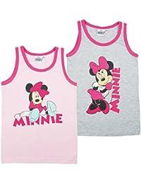 Minnie Mouse Mädchen Unterhemden, 2er Pack