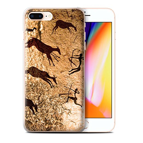 Stuff4 Hülle / Case für Apple iPhone 8 Plus / Pack 5pcs / Höhlenmalerei Kollektion Jäger/Braun