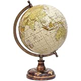 entice selections Antique Handicrafted Desktop Rotating Globe