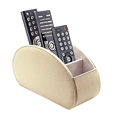fosinz mando a distancia soporte organizador piel hilado control de almacenamiento Caddy TV Control REMOTO organizador con 5compartimentos espaciosos