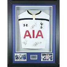 Vardy, Mahrez y Kante Leicester City firmado camiseta 3d enmarcado pantalla con COA