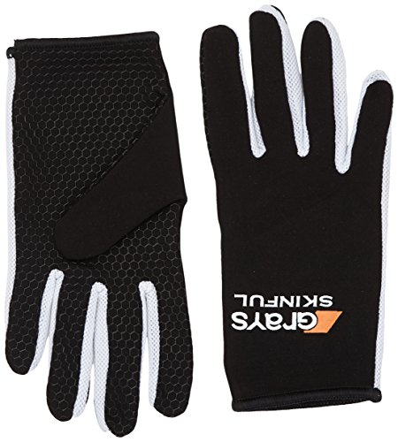 GRAYS Skinful - Guantes para hombre, color negro/blanco, talla M