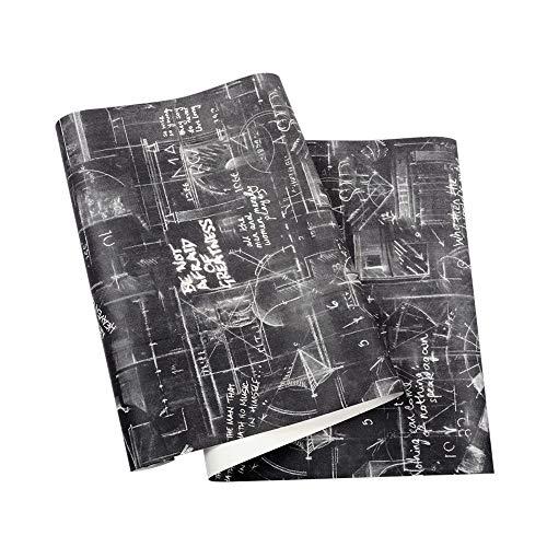 Kontakt Papiertafel Plakat, Weinlese Schwarze Weiße Buchstaben Entfernbare Schale Und Stock Tapeten Bar Café Hintergrund Wand Persönlichkeit Möbel Dekorative Tapeten(0.53m×10m =5.3㎡) - Cafe Stock