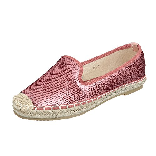Slipper Damenschuhe Low-Top Moderne Ital-Design Halbschuhe Rosa 435