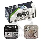 Batteria Originale 10 X Batteria Maxell 364 SR621SW 1,55 V Batteria Boton Ossido Argento Maxell AG-1/72 Partita 48 Ore Felixmania