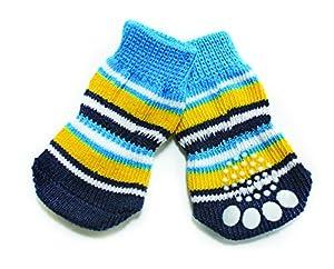 CROCI Stripes Chaussettes pour Chien 4 Pièces Taille L