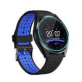smart watch 2019, Bluetooth Fitness Tracker, Pedometer Herren- und Damen-Outdoor-Sportuhr mit Pulsmesser mit SIM-Karte für Android und iOS-4-Farben