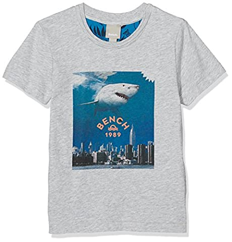 Bench Jungen T-Shirt Shark Tee Grau (Summer Grey Marl MA1026), 116 (Herstellergröße: 5-6)