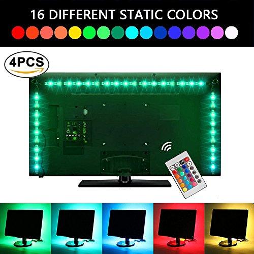 lluminación De Retroiluminación LED TV 2M USB LED Tira De Luz Con Control Remoto Para 40 A 60 Pulgadas HDTV, Monitor De PC