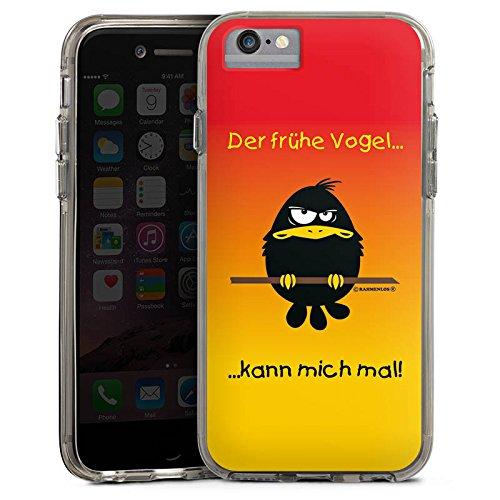 Apple iPhone 6 Plus Bumper Hülle Bumper Case Glitzer Hülle Lustig Funny Humor Bumper Case transparent grau