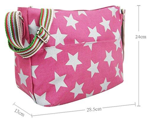 Kukubird vari Poodle farfalla fiori stelle polkadots pattern & Rainbow Strap Sling crossbody Messenger scuola palestra Bag Green