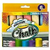 Premier Stationery N0288466 World of Colour Jumbo Coloured Sidewalk Chalk (Pack of 6)