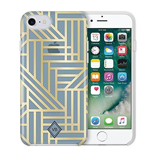Vera Bradley Flexible Frame Case for iPhone 8 Plus, iPhone 7 Plus & iPhone 6 Plus/6S Plus - Geo Medallions Blue/Gold Foil Vera Bradley Medallion