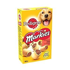 Pedigree Markies Original - Biscuits fourrés pour chien, 1 boîte de 500g de friandises