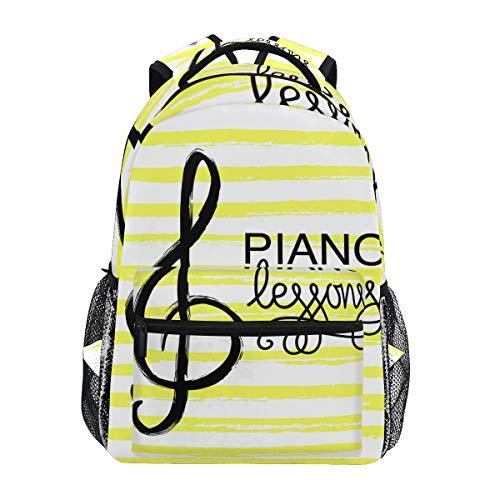 SIONOLY Rucksack,Klavierunterricht Logo Music Note Icon,Neu Lässige Daypack School Bookbag Verstellbare Umhängetaschen Reiserucksack -