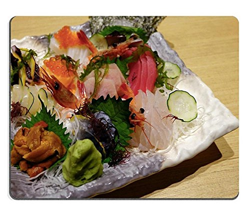 (Maus - Pads) - Mousepad Gaming Mouse Pad Sushi - Fisch, meeresfrüchte, Lachs PN00 X 15259 YANTG Naturkautschuk Material Verkauft. -