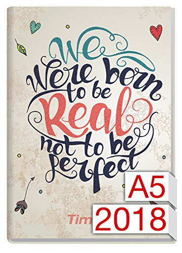 Chäff-Timer Classic A5 Kalender 2018 [Born to be real] 12 Monate Jan-Dez 2018 - Terminkalender mit Wochenplaner - Organizer - Wochenkalender