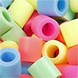Perles à repasser, dim. 10x10 mm, couleurs pastel, jumbo, 1000 assortis