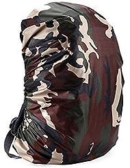Yeshi 35–80L portátil ligero resistente al agua mochila cubierta de la lluvia caso deportes al aire libre Viajes Camping senderismo bolsa funda, Luca Camouflage, 70L